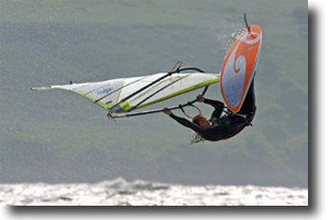 Windsurfing off Weston Beach